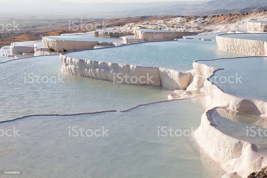 A beautiful view of the Pamikkale pools royalty-free stock photo