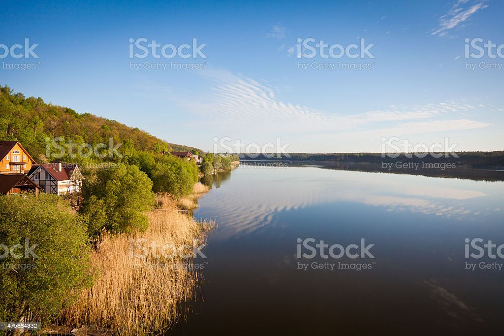 beautiful view of the river stock photo