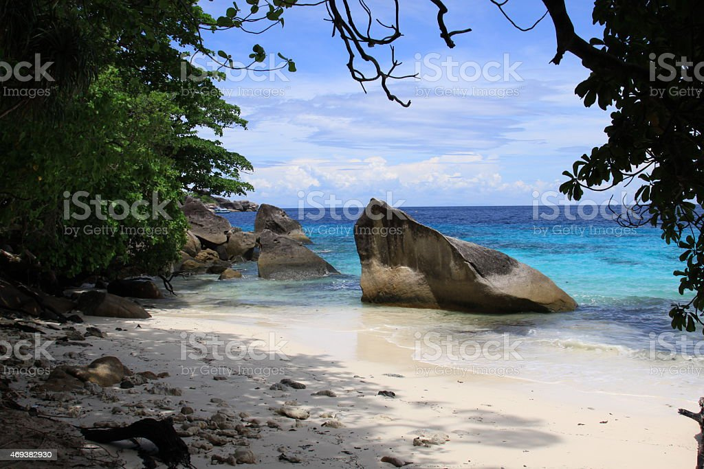Beautiful view of the rock Sail on Similan stock photo