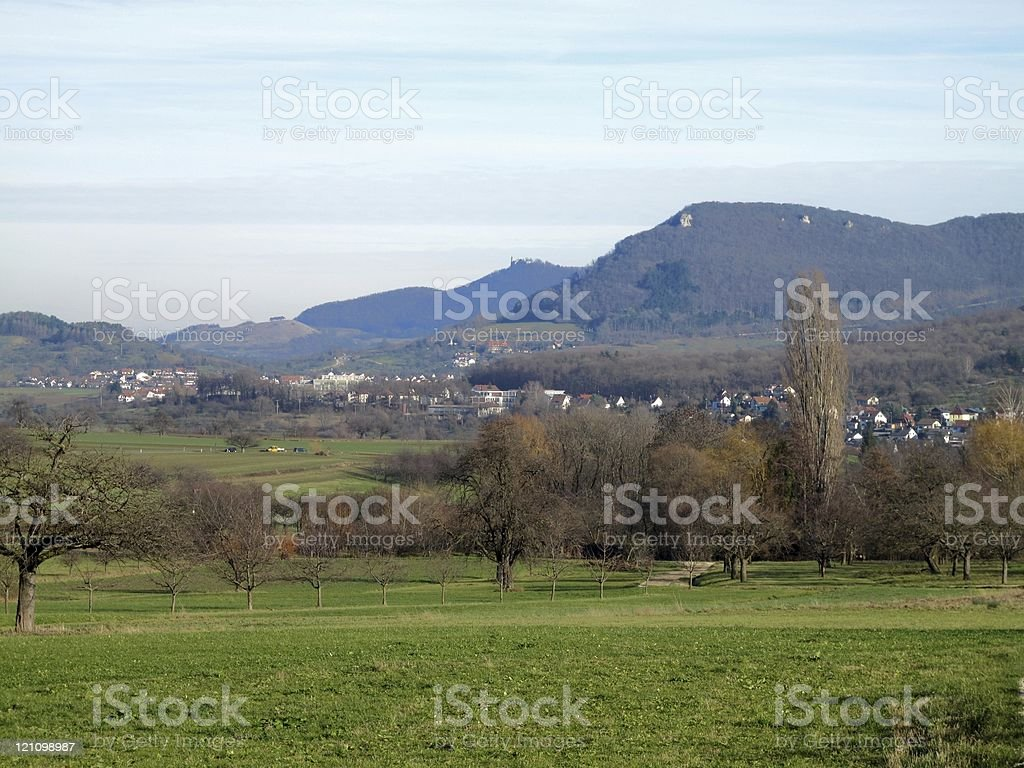 Beautiful view of the Swabian Alb stock photo