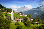 A beautiful view of the village in the Swiss alps