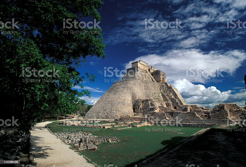 Beautiful view of Uxmal, an archeological sight royalty-free stock photo