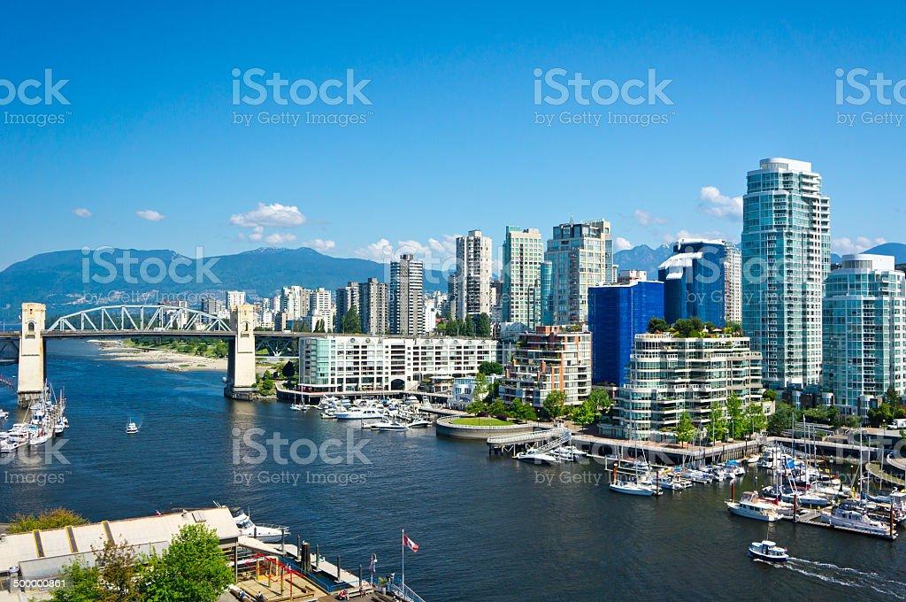 Beautiful view of Vancouver, British Columbia, Canada stock photo