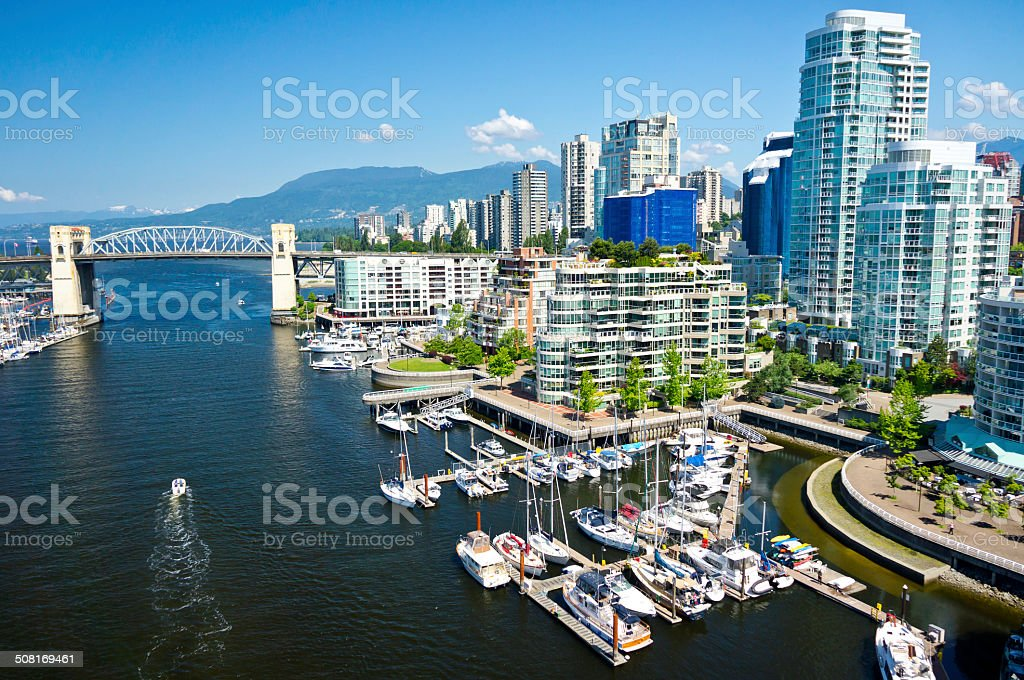 Beautiful view of Vancouver, British Columbia, Canada stock photo