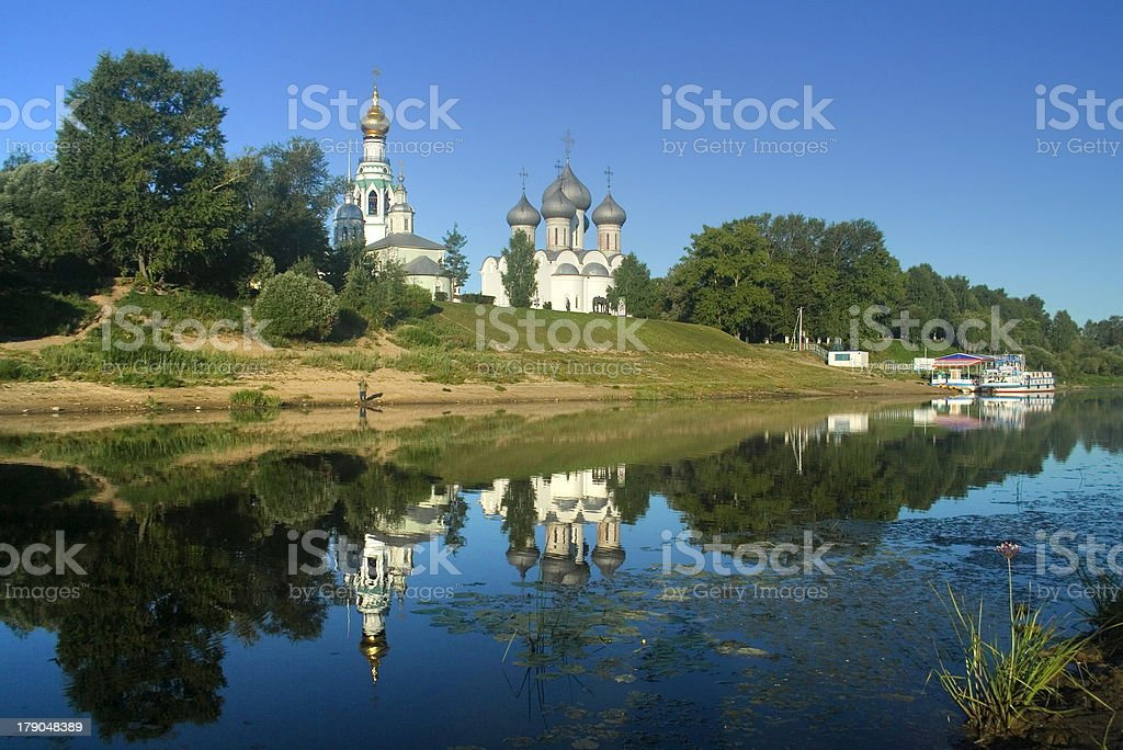 Beautiful view of Vologda royalty-free stock photo