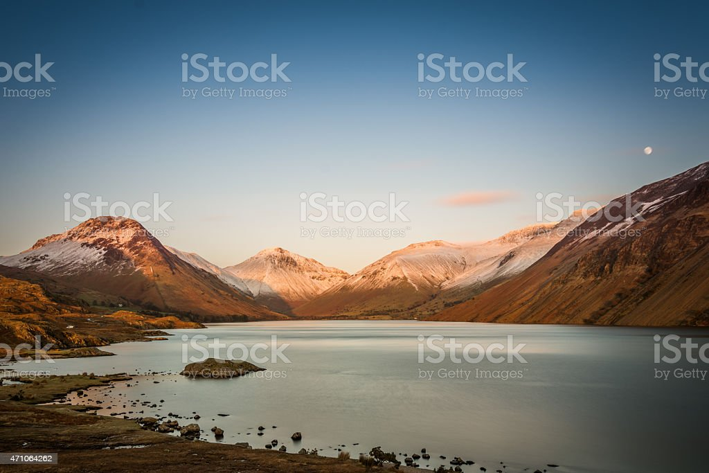 Beautiful View Of Wastwater Lake With Fells In The Background. stock photo