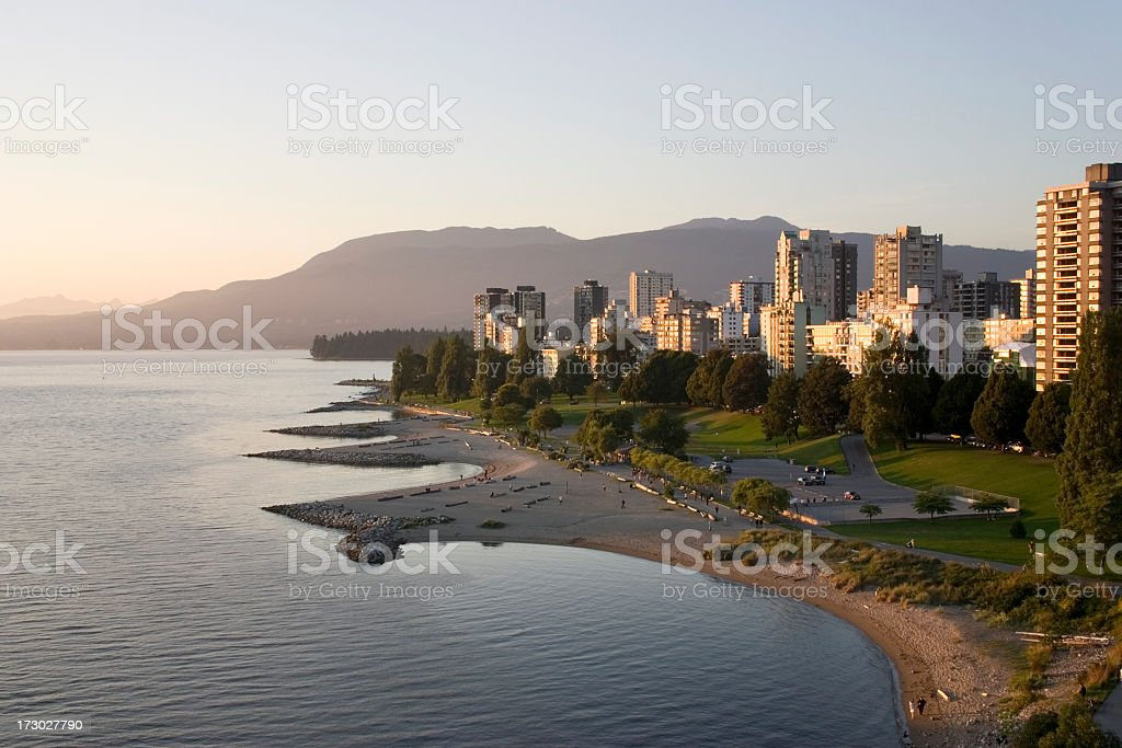 A beautiful view of west Vancouver Canada stock photo