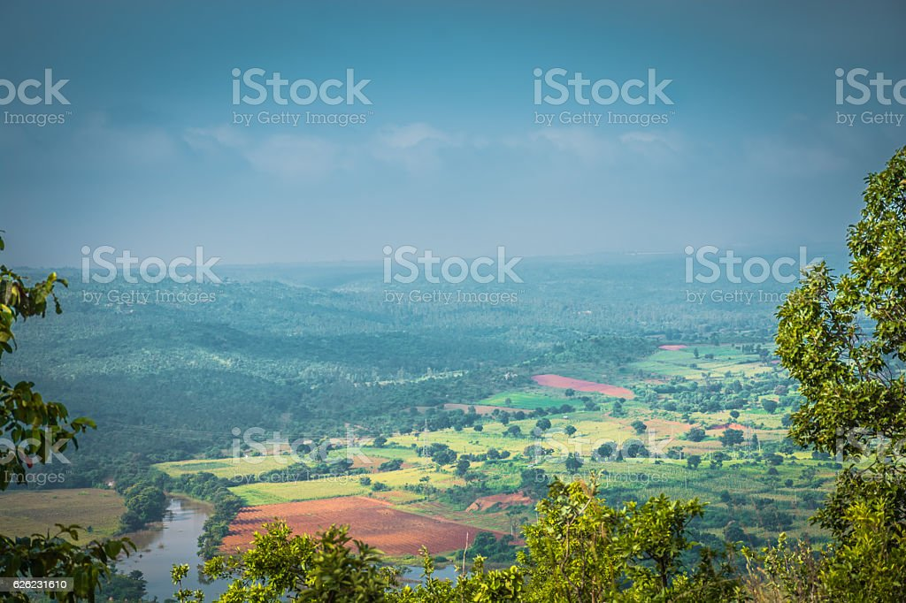 Beautiful View Of Western Ghats Karnataka, India stock photo