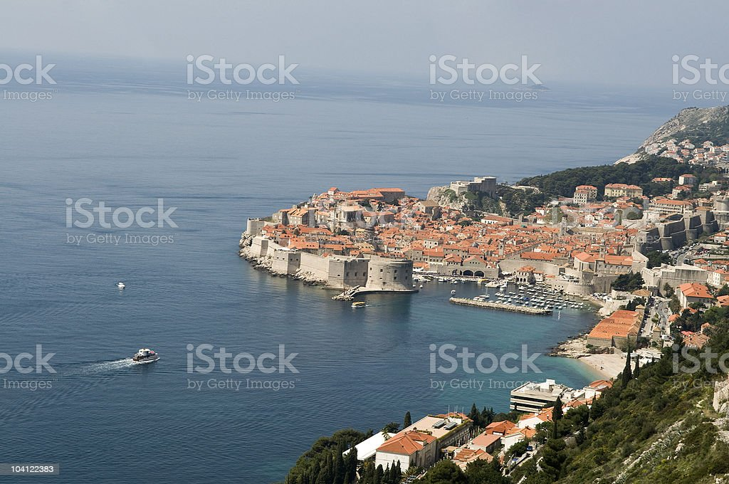 Beautiful View on Dubrovnik Croatia royalty-free stock photo