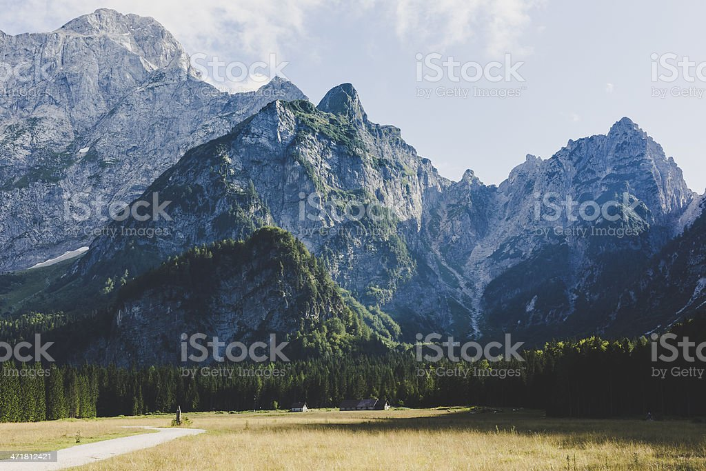 Beautiful view on mountains royalty-free stock photo