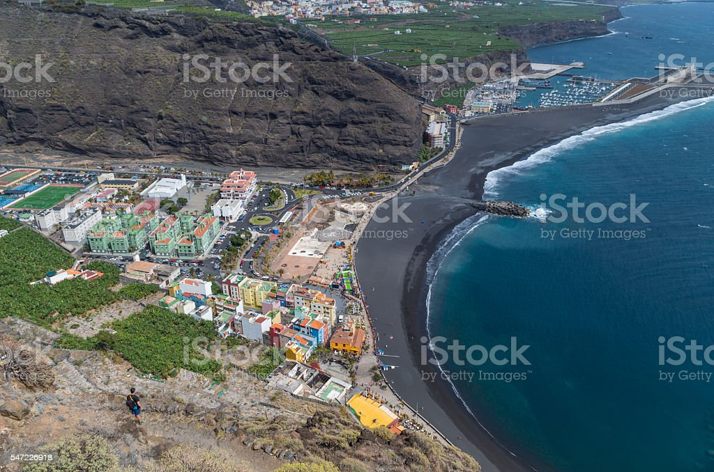 Beautiful view on Puerto de Tazacorte, Canary Islands, Spain stock photo