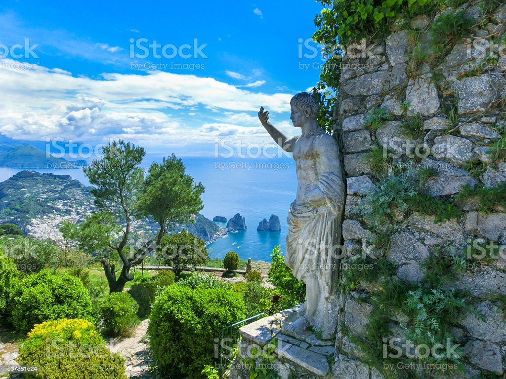 Beautiful view on the Capri Island, Italy stock photo