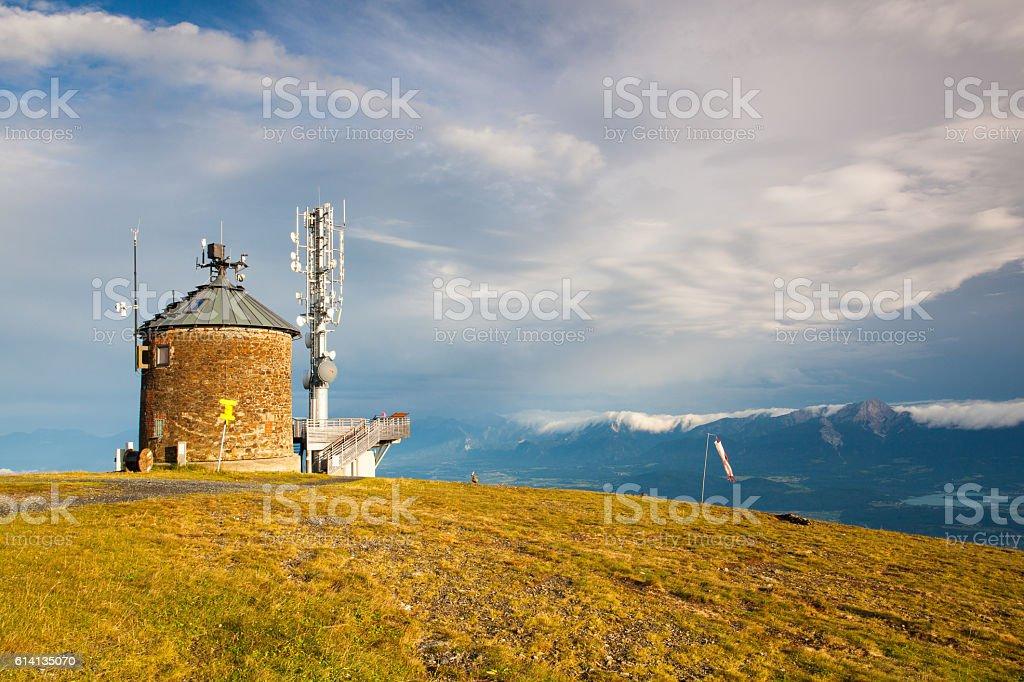 Beautiful view on the Slovenia mountains, Gerlitzen Alps, Austri stock photo