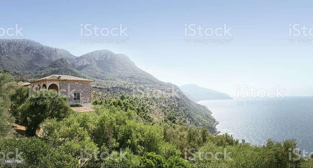 Beautiful view on the Son Marroig estate royalty-free stock photo