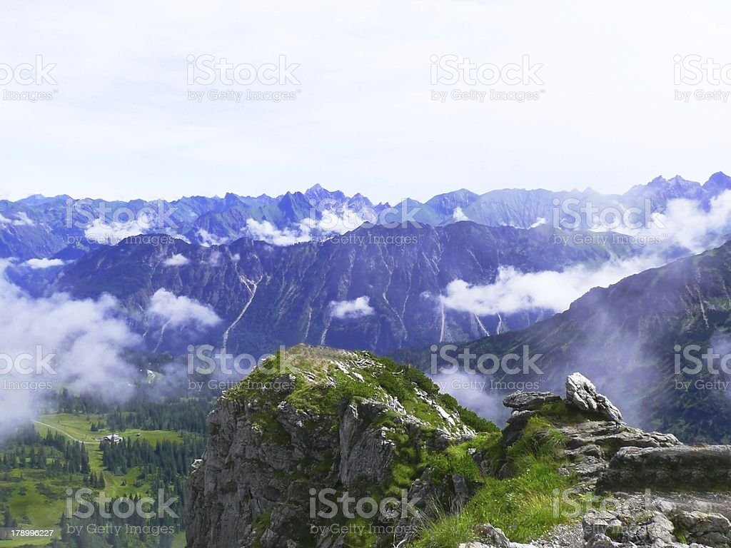 beautiful view on the top mountain at Germany royalty-free stock photo