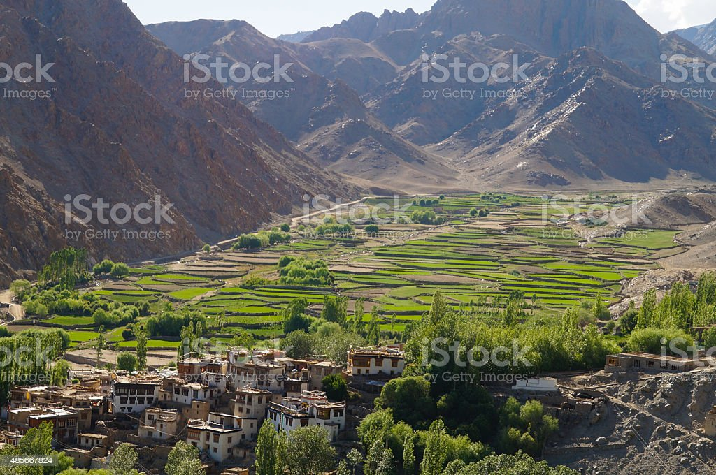 Beautiful view on the way to Leh in Ladakh, India stock photo