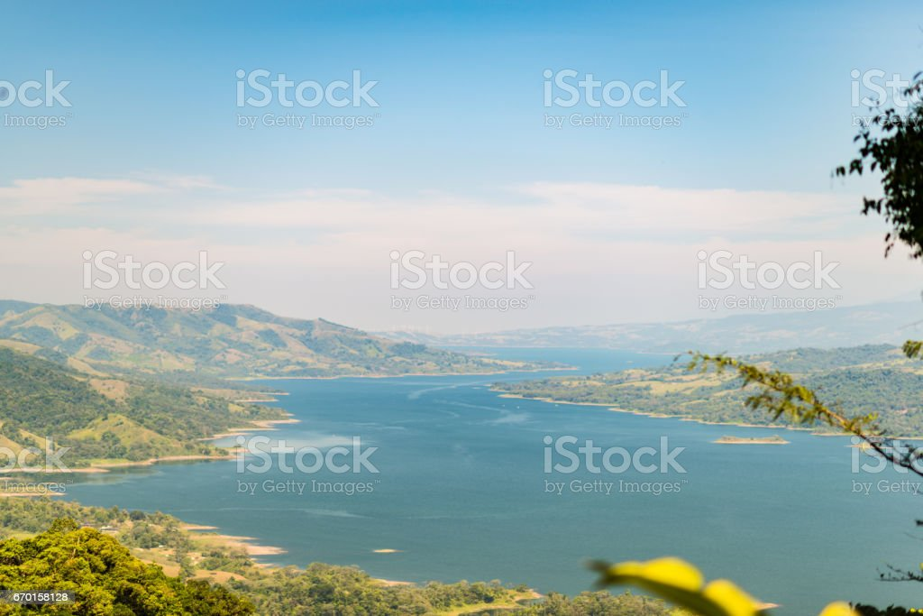 Beautiful view over lake Arenal stock photo