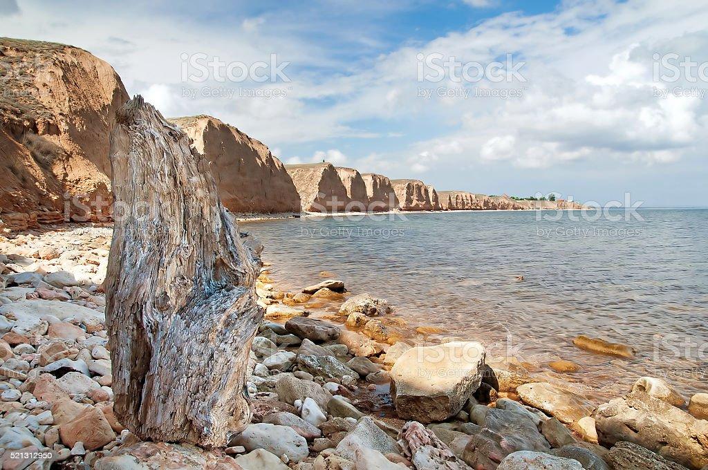 Beautiful view resort landscape in Tarhankut, Crimea, Ukraine stock photo