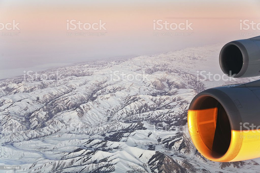 beautiful view  to the mountains of Himalaya royalty-free stock photo