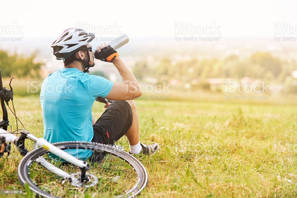 Beautiful view while having a break stock photo