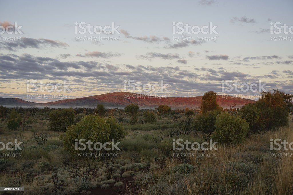 Beautiful views across the Pilbara near Karijini National Park stock photo
