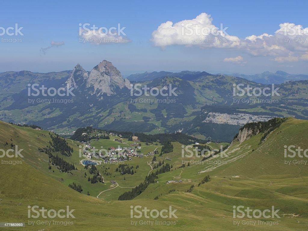 Beautiful village and holiday resort Stoos stock photo