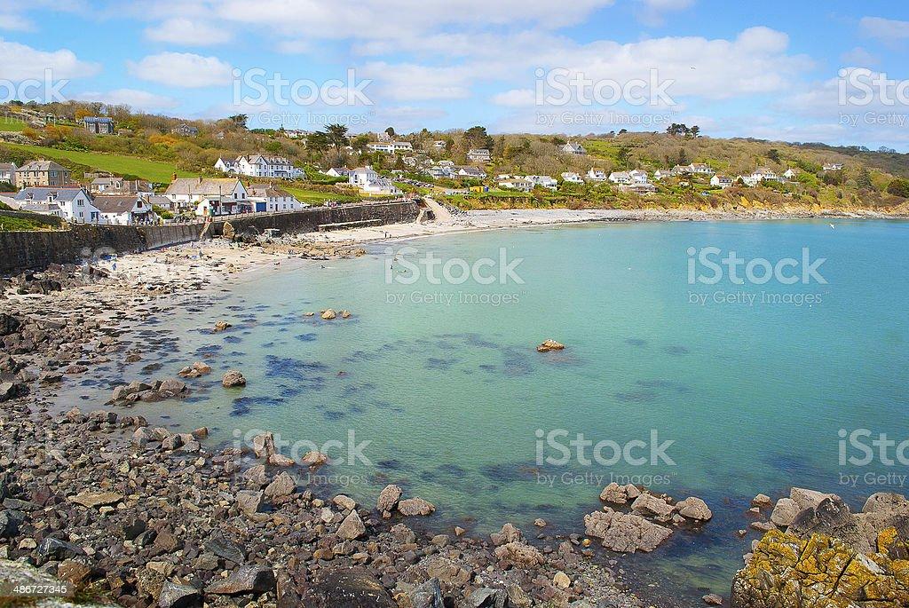 Beautiful Village of Coverack stock photo