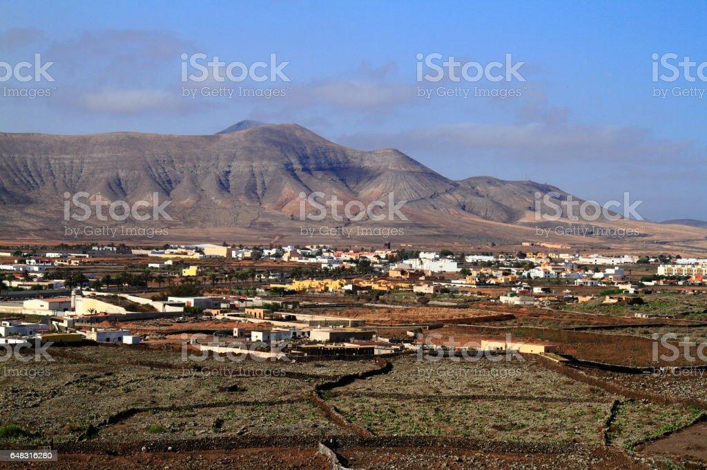 Beautiful village on Fuerteventura, Canary Islands stock photo