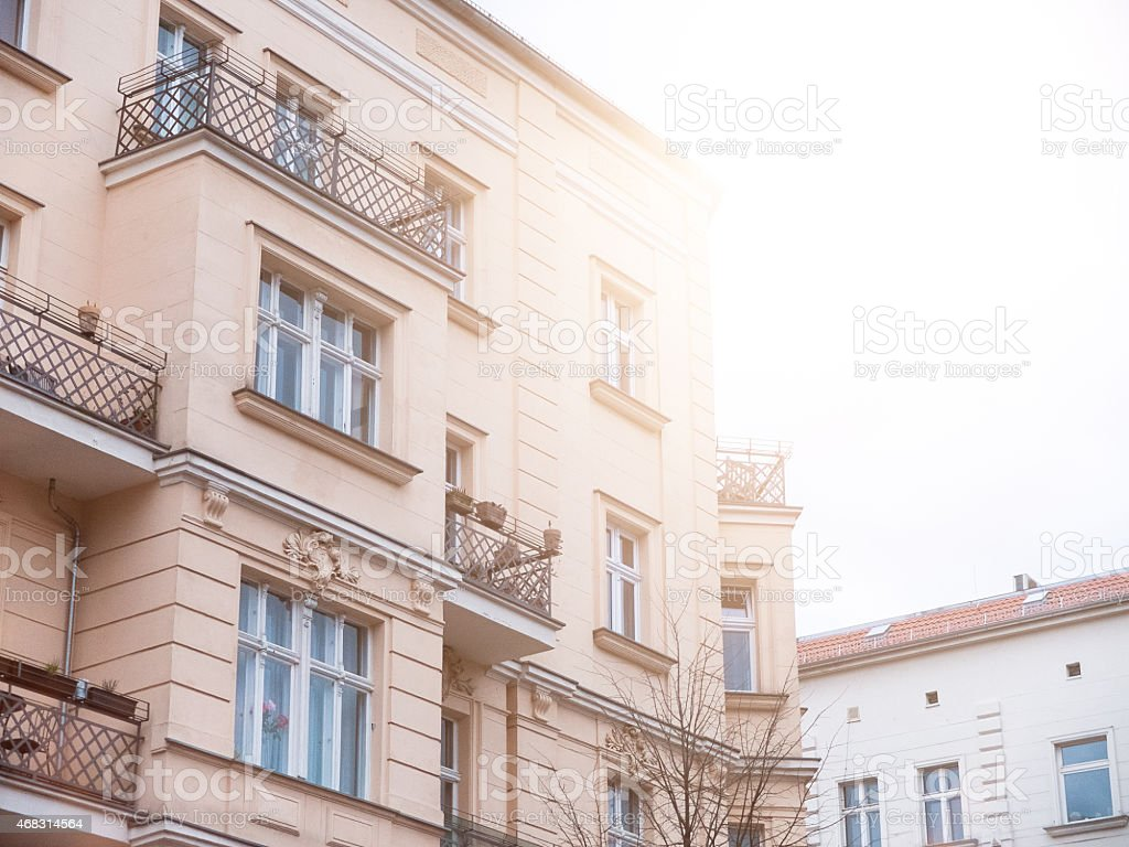 beautiful vintage building at prenzlauer berg stock photo