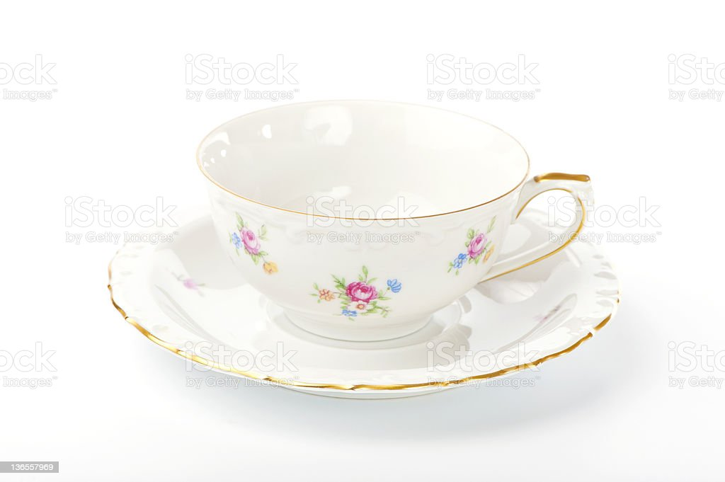 beautiful vintage cup and saucer royalty-free stock photo