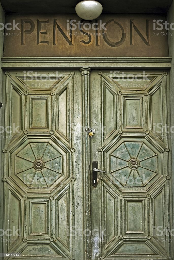 Beautiful vintage door royalty-free stock photo