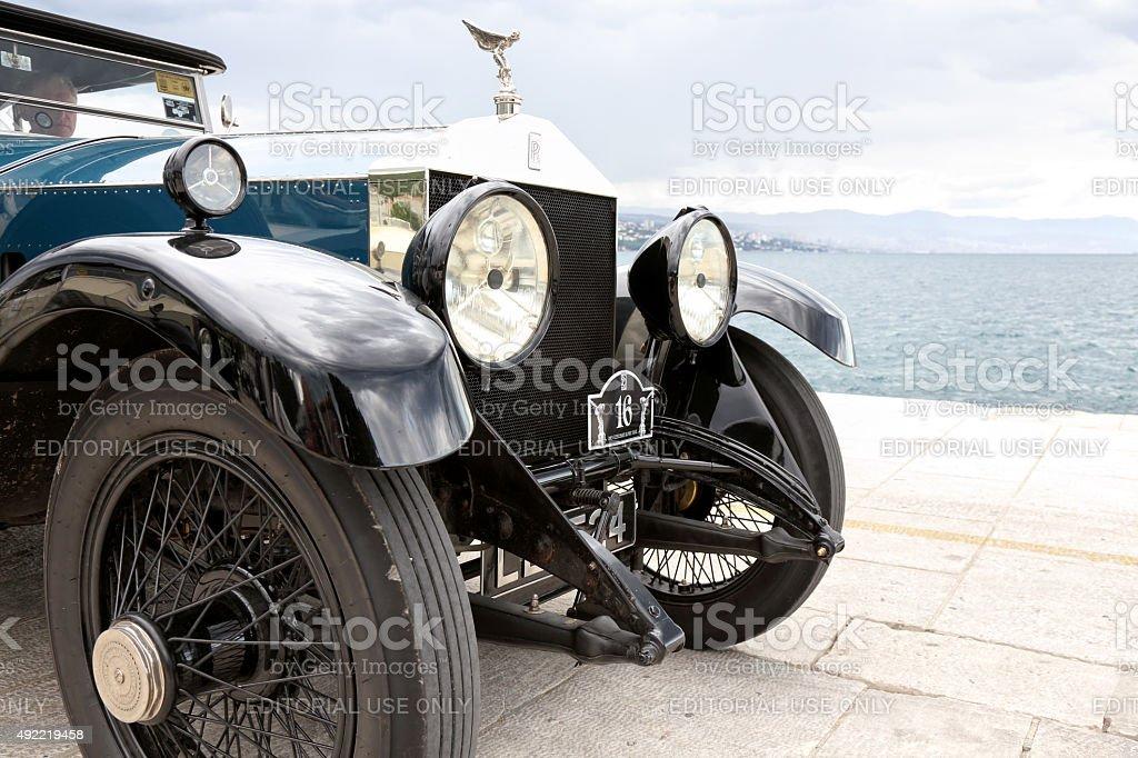 Beautiful vintage Rolls Royce stock photo