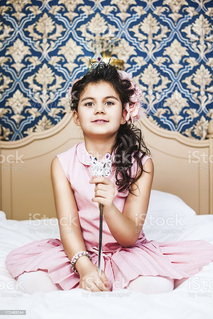 Beautiful vintage styled little princess royalty-free stock photo
