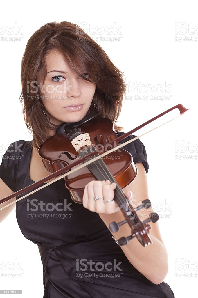 beautiful violinist royalty-free stock photo