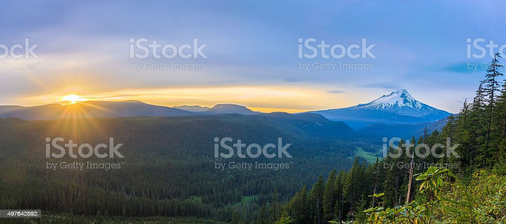 Beautiful Vista of Mount Hood in Oregon, USA stock photo