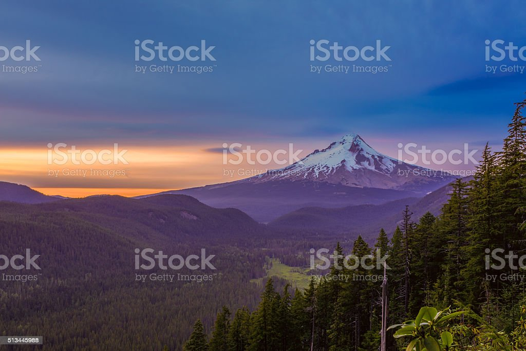Beautiful Vista of Mount Hood in Oregon, USA stock photo