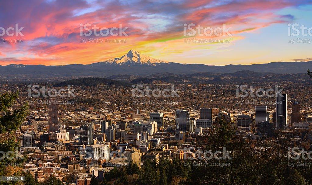 Beautiful Vista of Portland, Oregon stock photo