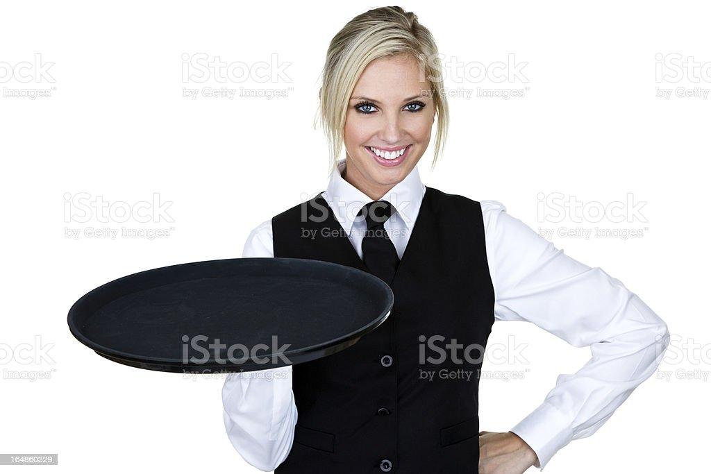 Beautiful waitress or barmaid royalty-free stock photo