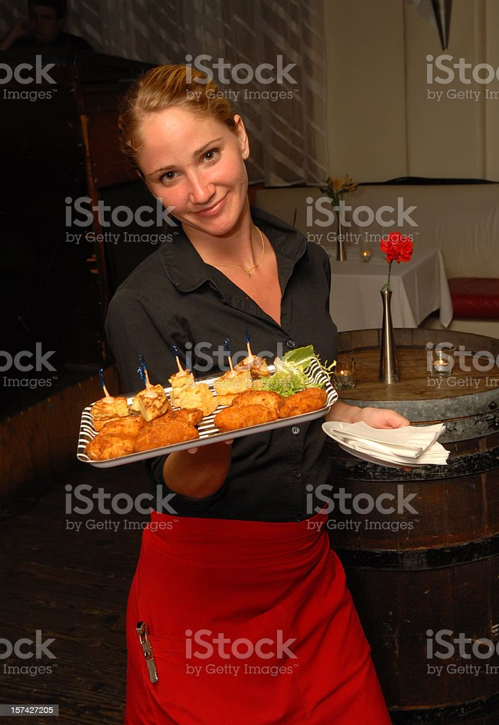 beautiful waitress royalty-free stock photo