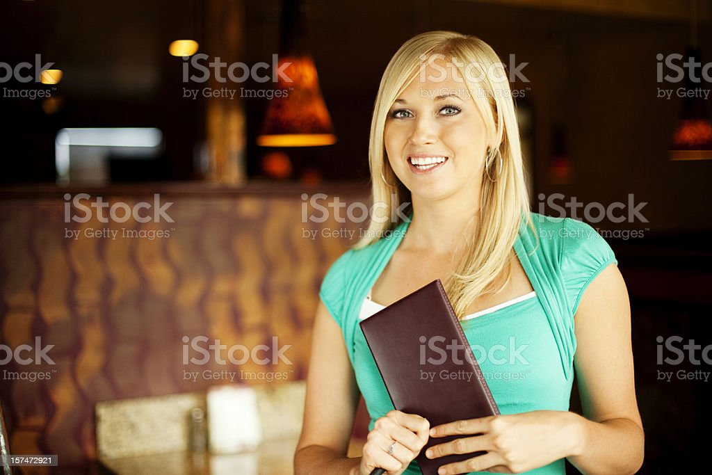 Beautiful Waitress royalty-free stock photo