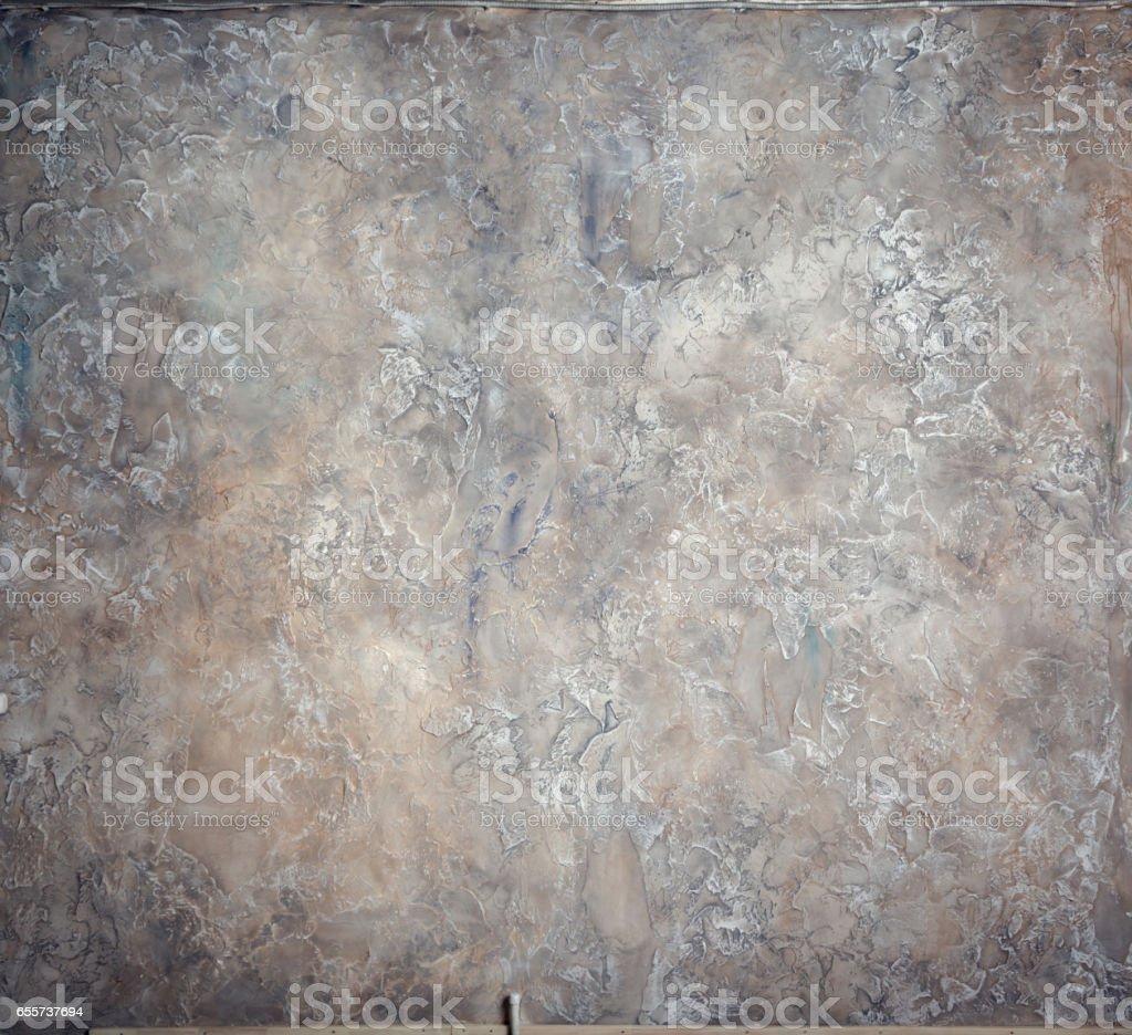 Beautiful Wallpaper. Venetian Plaster Gray-Beige Color stock photo