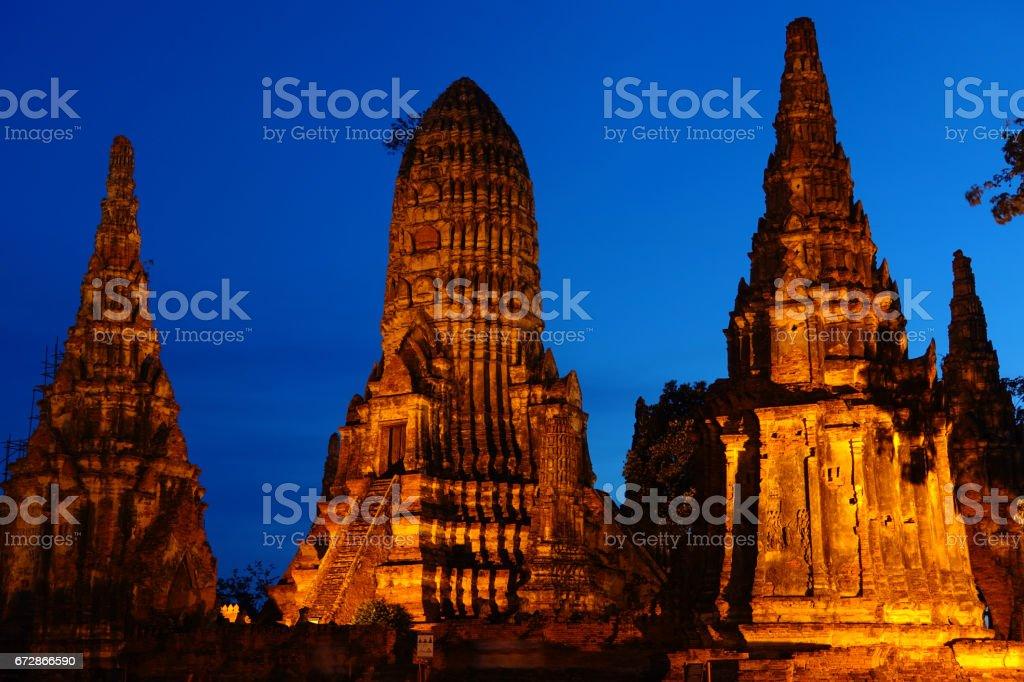 beautiful Wat Chaiwatthanaram in Ayutthaya stock photo