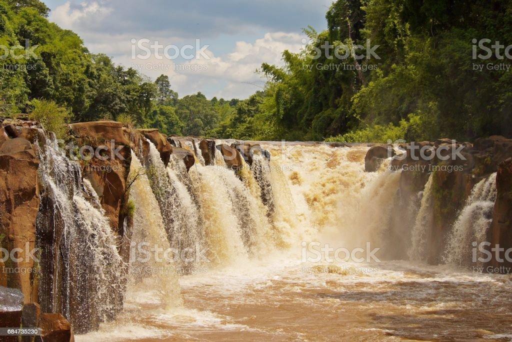 Beautiful water fall. stock photo
