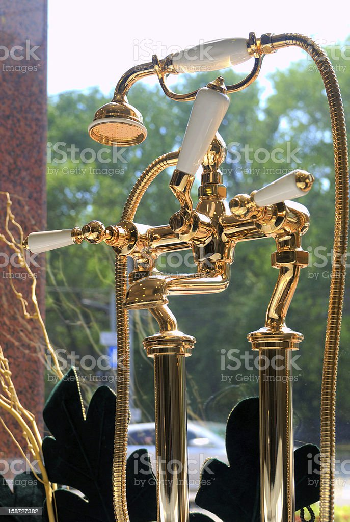 beautiful water faucet stock photo