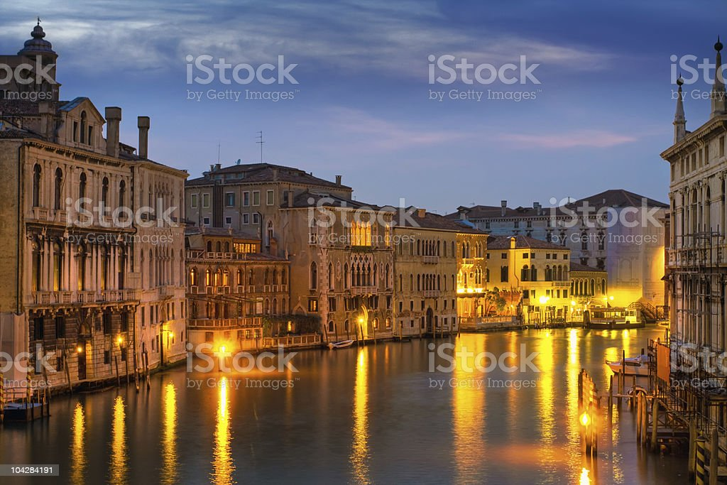Beautiful water street royalty-free stock photo