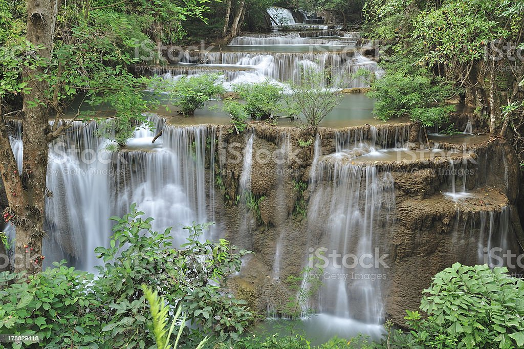 Beautiful waterfall   forest  in thailand royalty-free stock photo