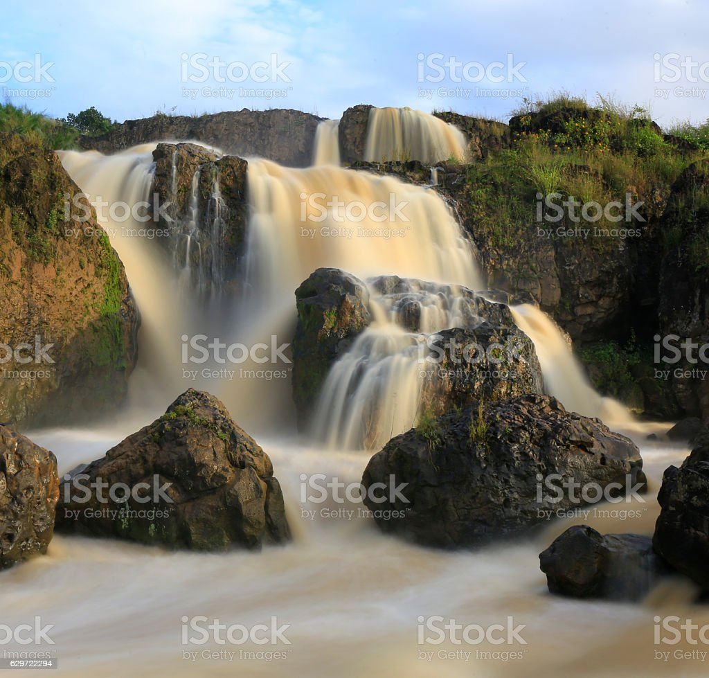 Beautiful waterfall in central highland, Vienam stock photo