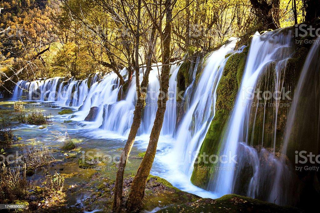 beautiful Waterfall in National Park stock photo