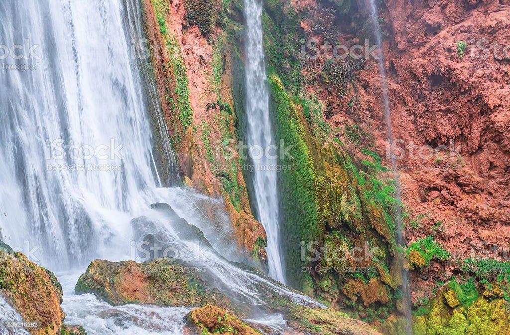 Beautiful waterfall in Ouzoud, Azilal, Morocco. Grand Atlas stock photo