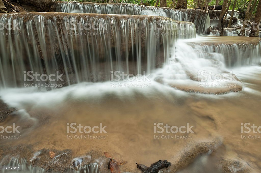 Beautiful waterfall in the forest royalty-free stock photo